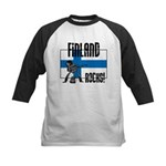Finland Rocks Kids Baseball Jersey
