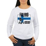 Finland Rocks Women's Long Sleeve T-Shirt