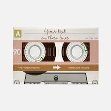 Cassette Tape - Tan Rectangle Magnet