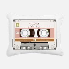 Cassette Tape - Tan Rectangular Canvas Pillow