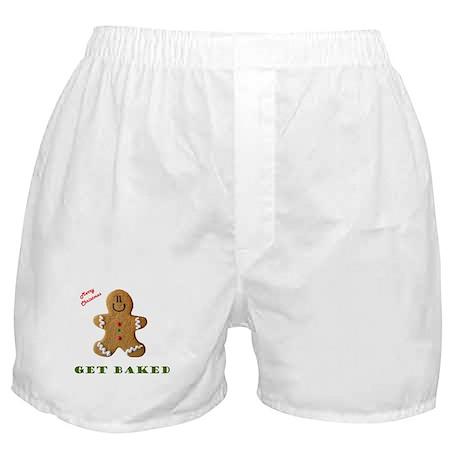 Get Baked Gingerbread Man Boxer Shorts