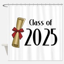 Class of 2025 Diploma Shower Curtain