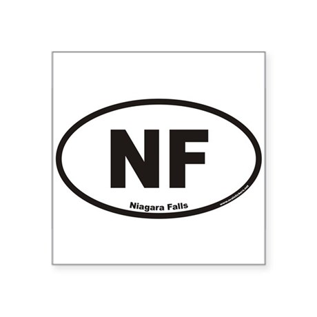 Niagara Falls NF Euro Oval Sticker