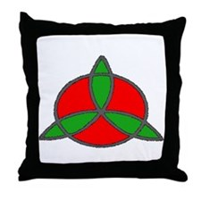 Christmas Trinity Throw Pillow