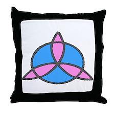 Blue & Pink Trinity Throw Pillow