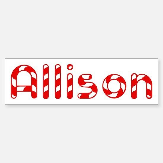 Allison - Candy Cane Bumper Bumper Bumper Sticker