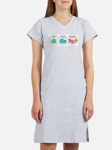 Rock Paper Scissor Women's Nightshirt