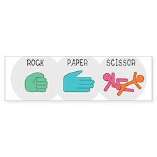 Rock Paper Scissor Sticker (Bumper)