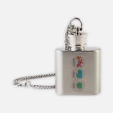 Rock Paper Scissor Flask Necklace