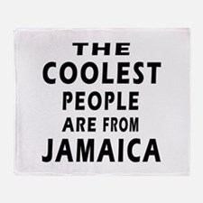 The Coolest Jamaica Designs Throw Blanket