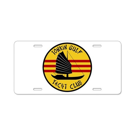 Tonkin Gulf Yacht Club Aluminum License Plate