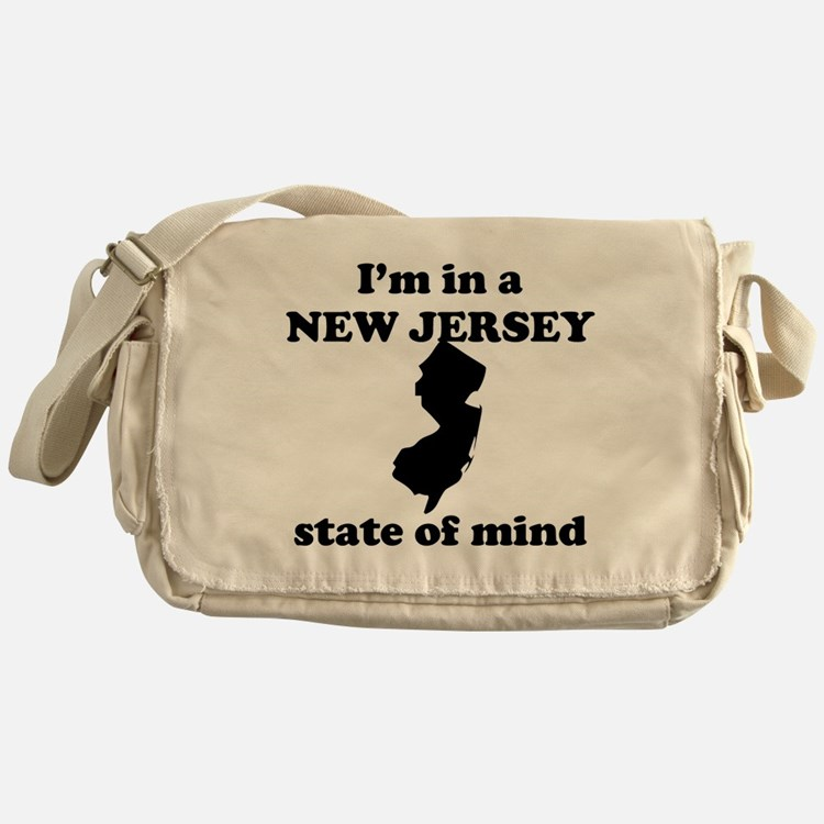 Im In A New Jersey State Of Mind Messenger Bag