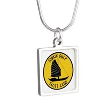 Tonkin Gulf Yacht Club Silver Square Necklace