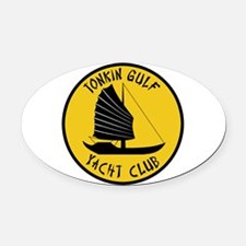 Tonkin Gulf Yacht Club Oval Car Magnet