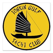 "Tonkin Gulf Yacht Club Square Car Magnet 3"" x 3"""