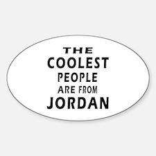 The Coolest Jordan Designs Sticker (Oval)