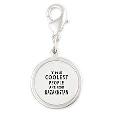 The Coolest Kazakhstan Designs Silver Round Charm
