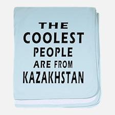 The Coolest Kazakhstan Designs baby blanket