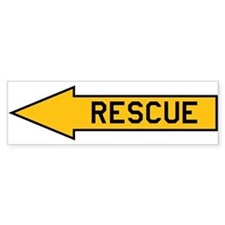 Rescue Arrow Bumper Sticker
