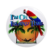 Island Time Ornament (Round)