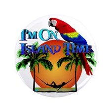 "Island Time 3.5"" Button"