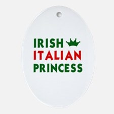 Irish Italian Princess Oval Ornament