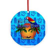 Island Time Tiki Ornament (Round)