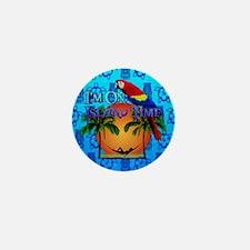 Island Time Tiki Mini Button