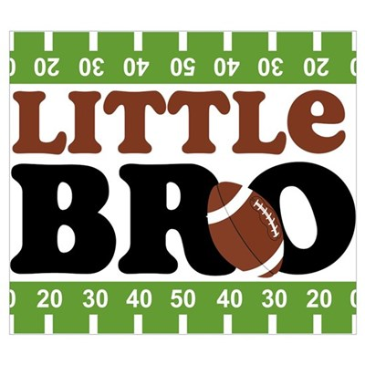Football Little Brother Wall Art Canvas Art