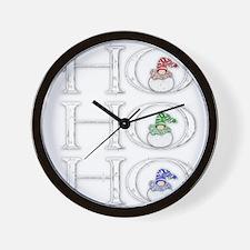 HoHoHo Wall Clock