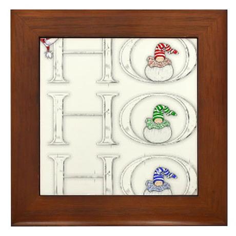 HoHoHo Framed Tile