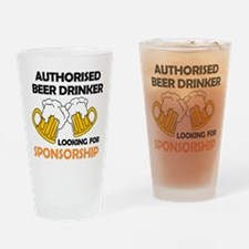 Authorised Beer Drinker Drinking Glass