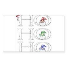 HoHoHo Rectangle Decal