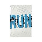 Grunge Run Rectangle Magnet