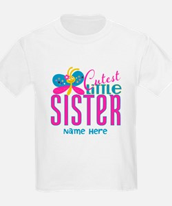 Custom Cutest Little Sister T-Shirt