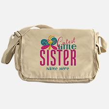 Custom Cutest Little Sister Messenger Bag