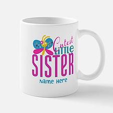 Custom Cutest Little Sister Mug