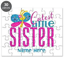Custom Cutest Little Sister Puzzle