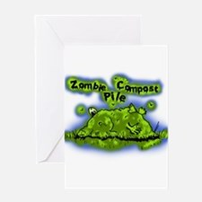 Zombie Compost Pile Greeting Card
