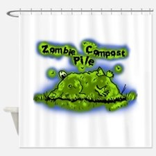 Zombie Compost Pile Shower Curtain