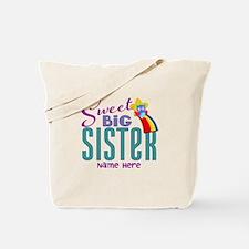 Custom Sweet Big Sister Owl Tote Bag