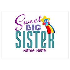 Custom Sweet Big Sister Owl Invitations