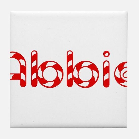 Abbie - Candy Cane Tile Coaster