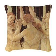 Primavera by Botticelli Woven Throw Pillow