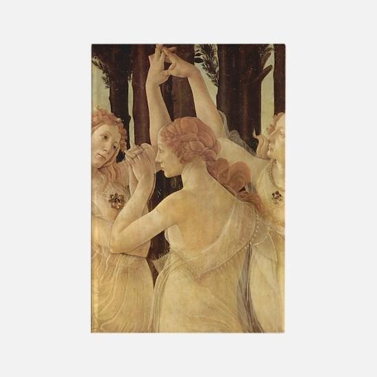 Primavera by Botticelli Rectangle Magnet