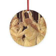 Primavera by Botticelli Round Ornament