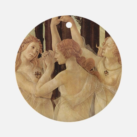 Primavera by Botticelli Round Ornament