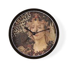 Primavera by Botticelli Wall Clock