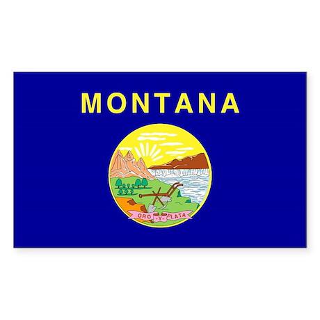 Montana Flag Rectangle Sticker