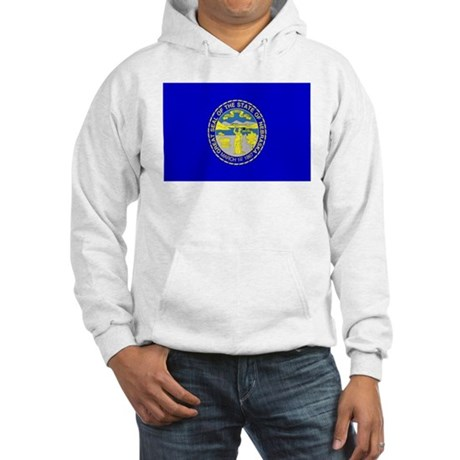 Nebraska Flag Hooded Sweatshirt